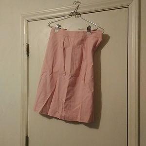 Talbots pink skirt